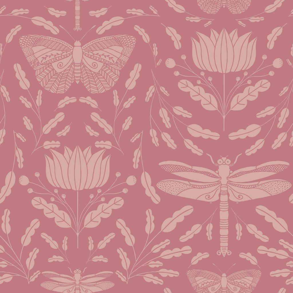 PINK_BUTTERFLY_DRAGONFLY_Print